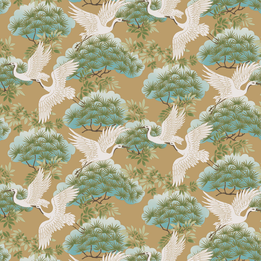 Kuren Wallpaper - Copper - by Coordonne