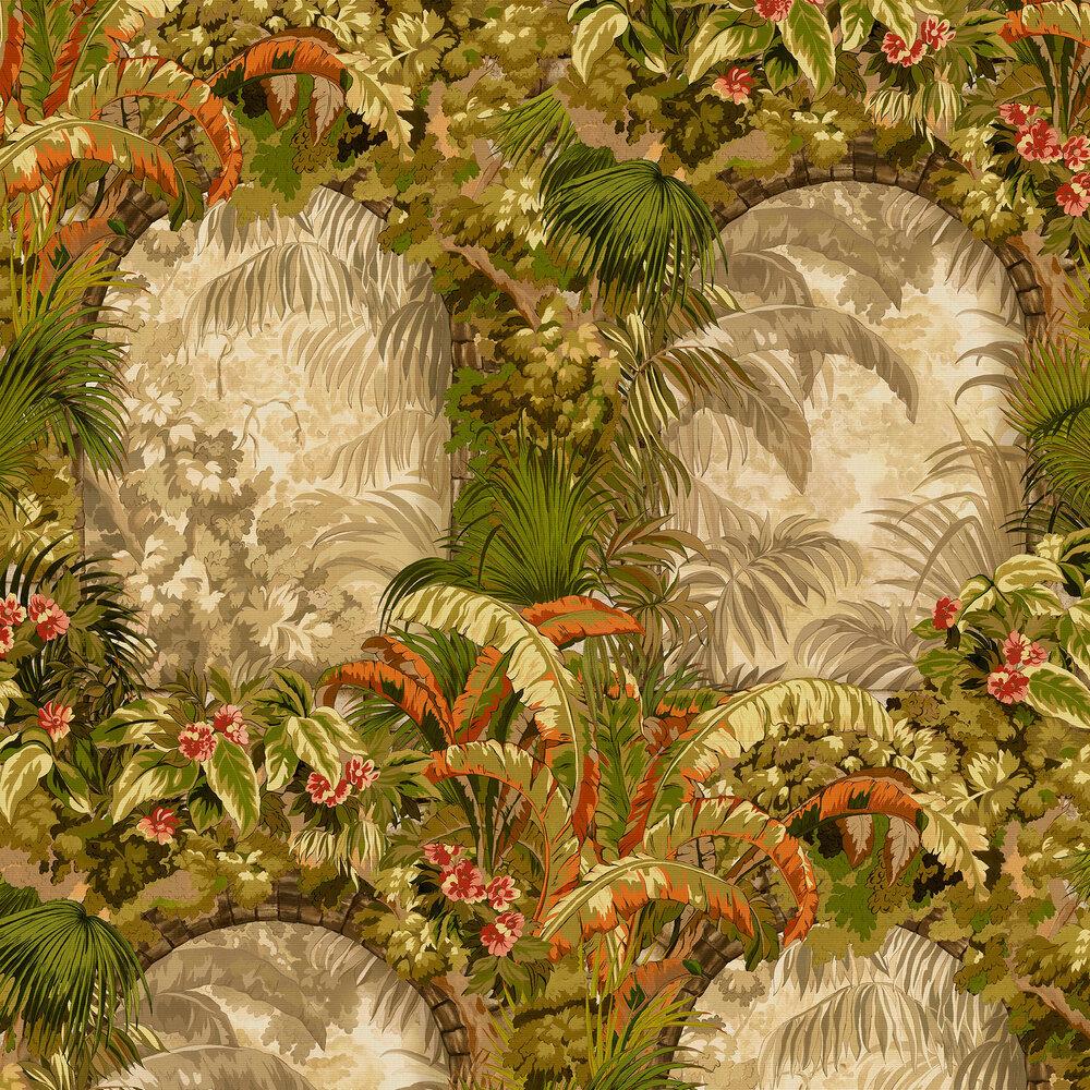 Hispalis Wallpaper - Khaki Multi - by Cole & Son