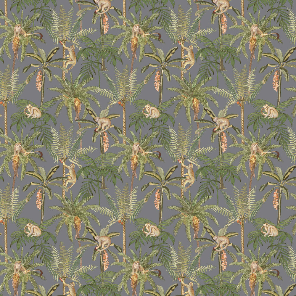 Albany Ateles Silver Wallpaper - Product code: 91100