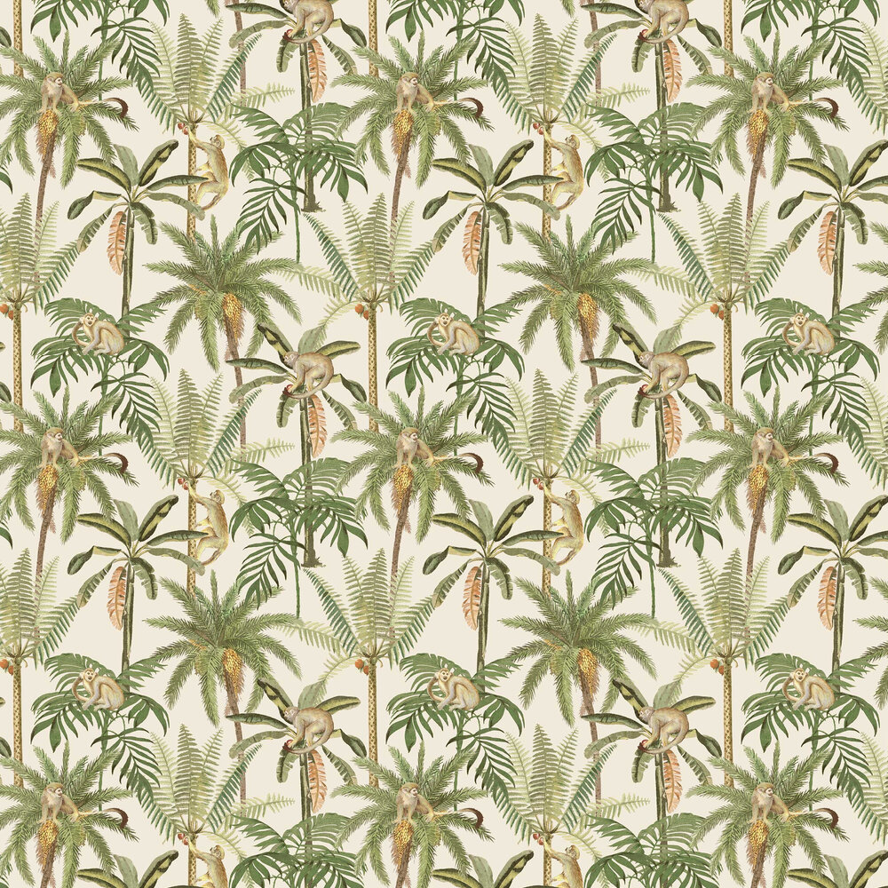 Ateles Wallpaper - White - by Albany