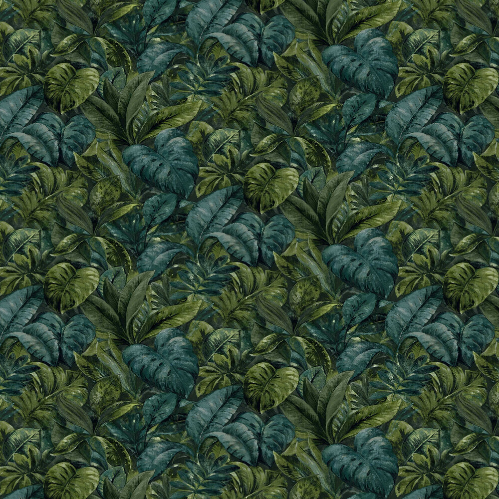 Anori Wallpaper - Green - by Albany