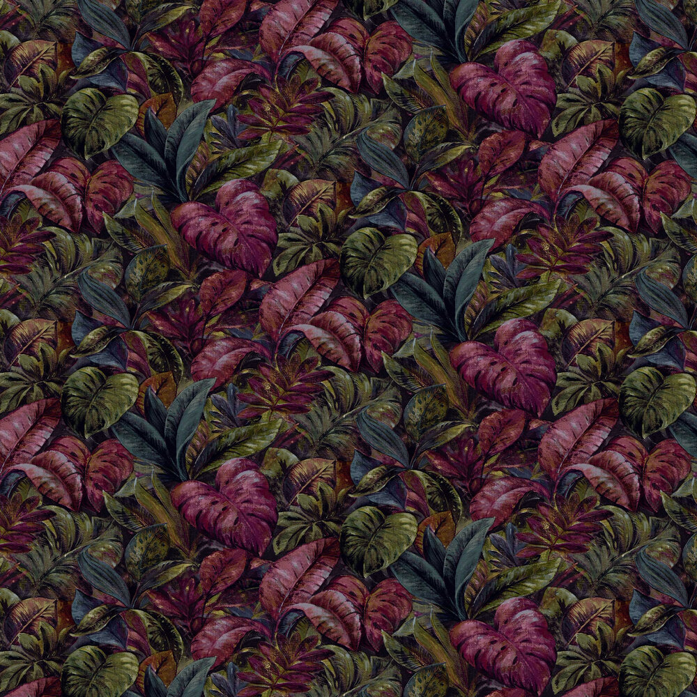 Anori Wallpaper - Plum - by Albany