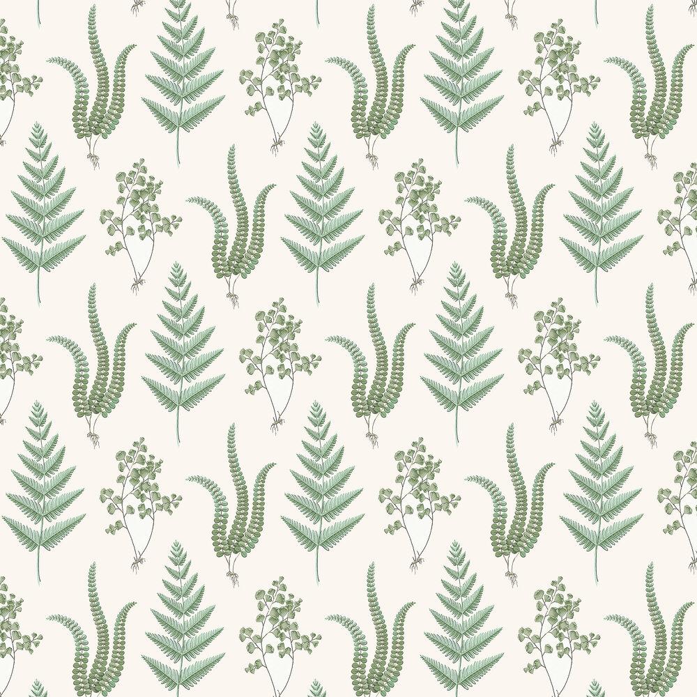 Herba Wallpaper - Green - by Boråstapeter