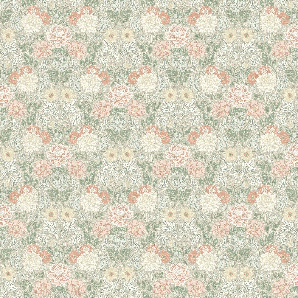 Dahlia Garden Wallpaper - Blush / Taupe - by Boråstapeter
