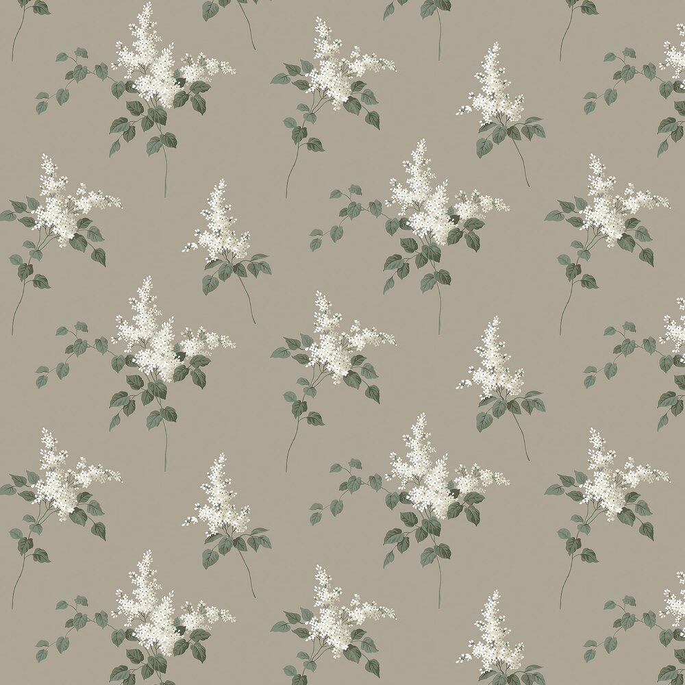 Lilacs Wallpaper - Taupe - by Boråstapeter