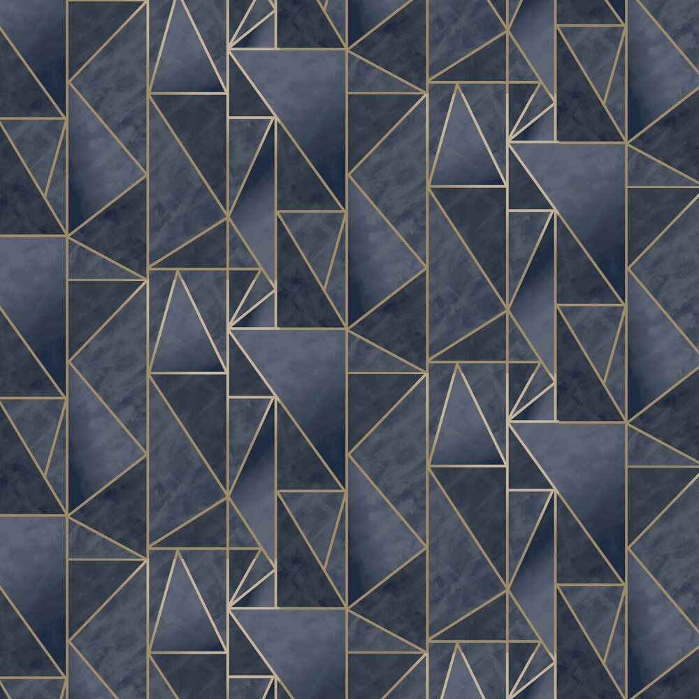 Charon Wallpaper - Navy / Gold - by Albany