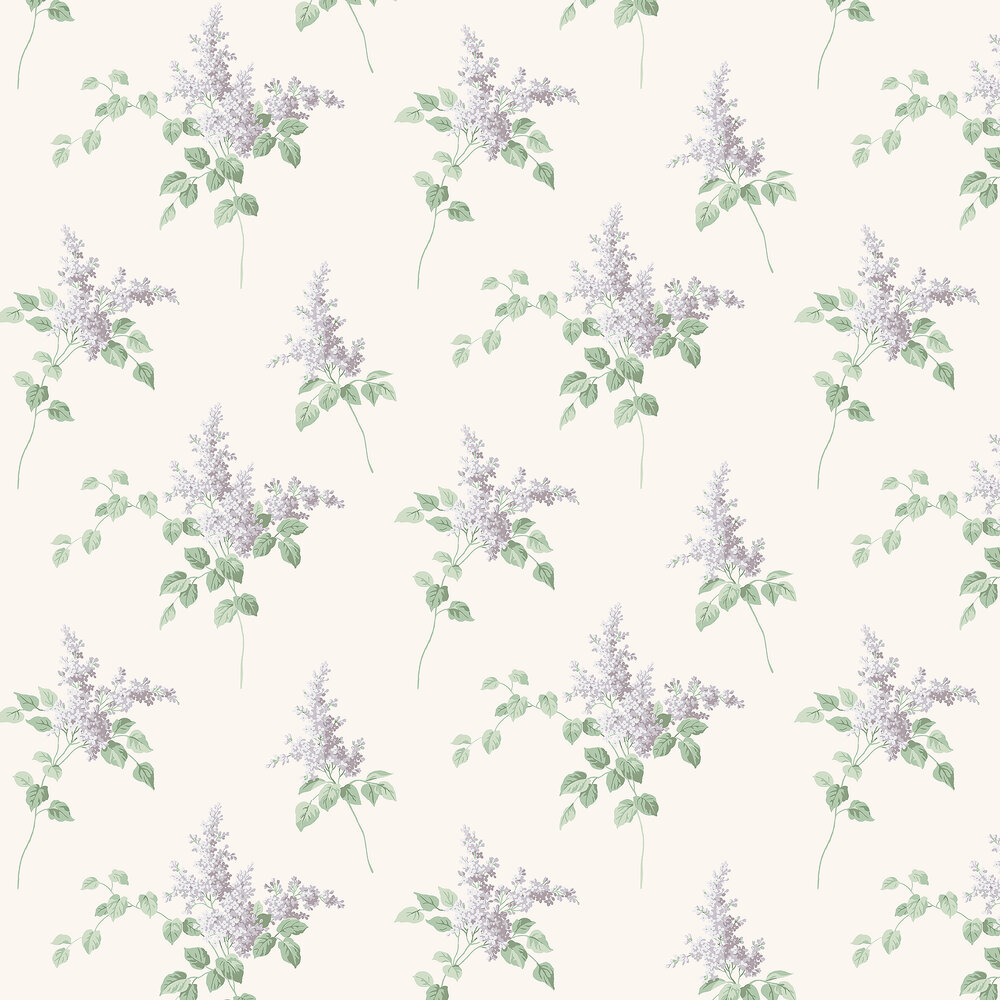 Lilacs Wallpaper - Ivory - by Boråstapeter