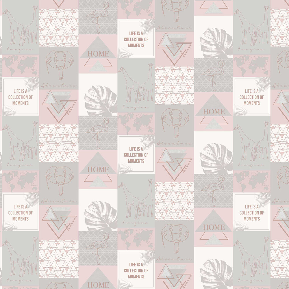 Albany Adventure Pink / Grey Wallpaper - Product code: 91160