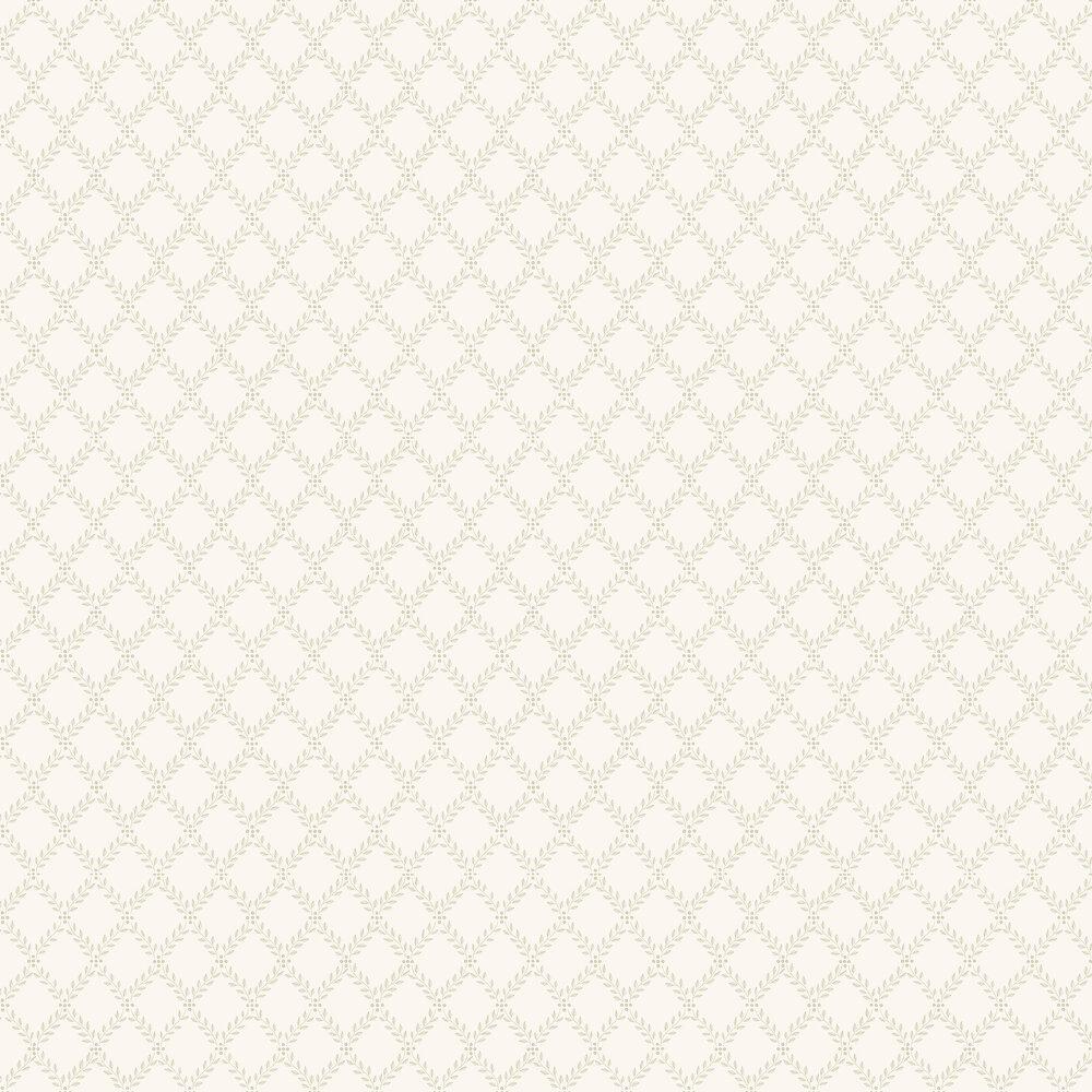 Trellis Leaves Wallpaper - Cream - by Boråstapeter