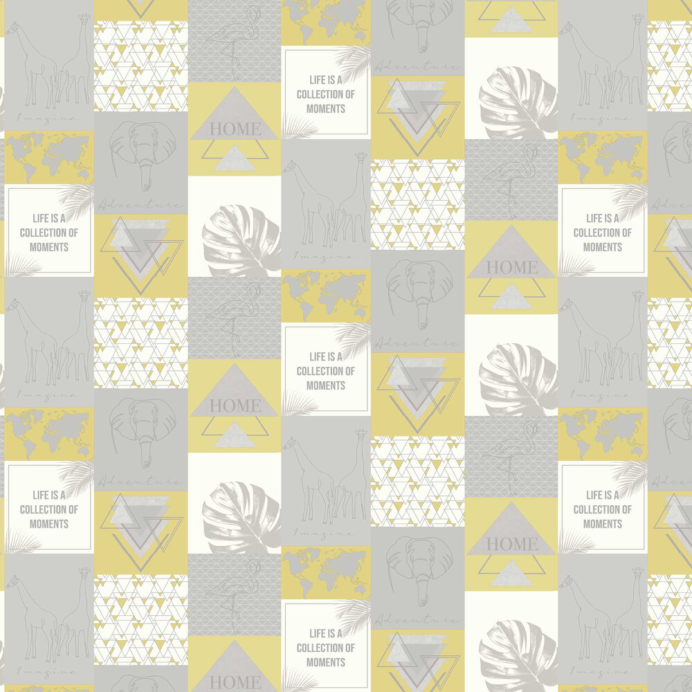 Albany Adventure Yellow / Grey Wallpaper - Product code: 91161