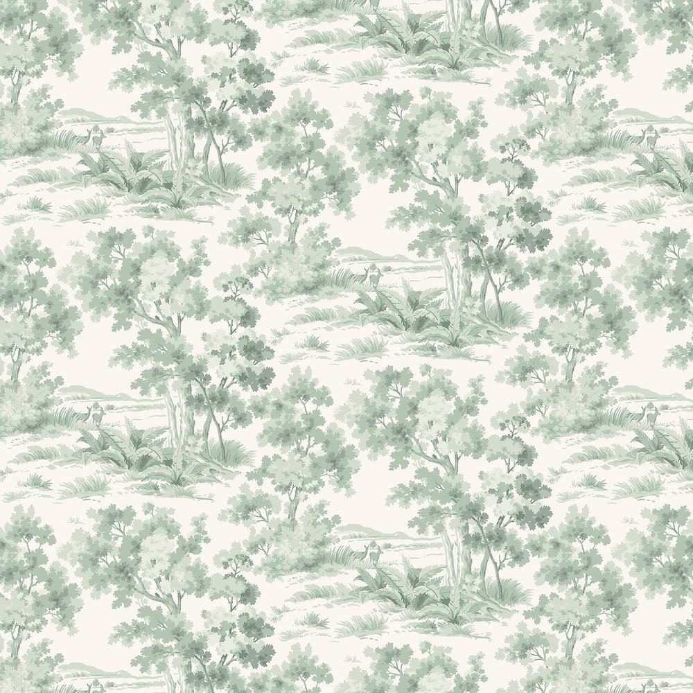 Boråstapeter Countryside Morning Green Wallpaper - Product code: 7678