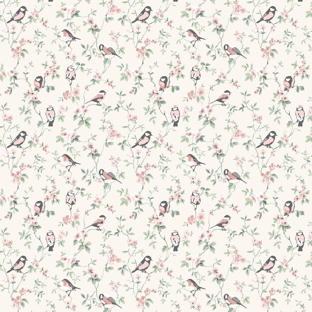 Falsterbo Birds Wallpaper - Cream - by Boråstapeter