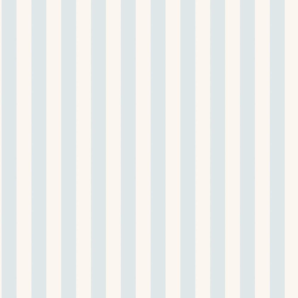 Falsterbo Stripe Wallpaper - Blue - by Boråstapeter