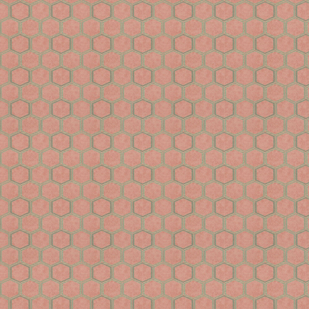 Manipur Wallpaper - Coral - by Designers Guild