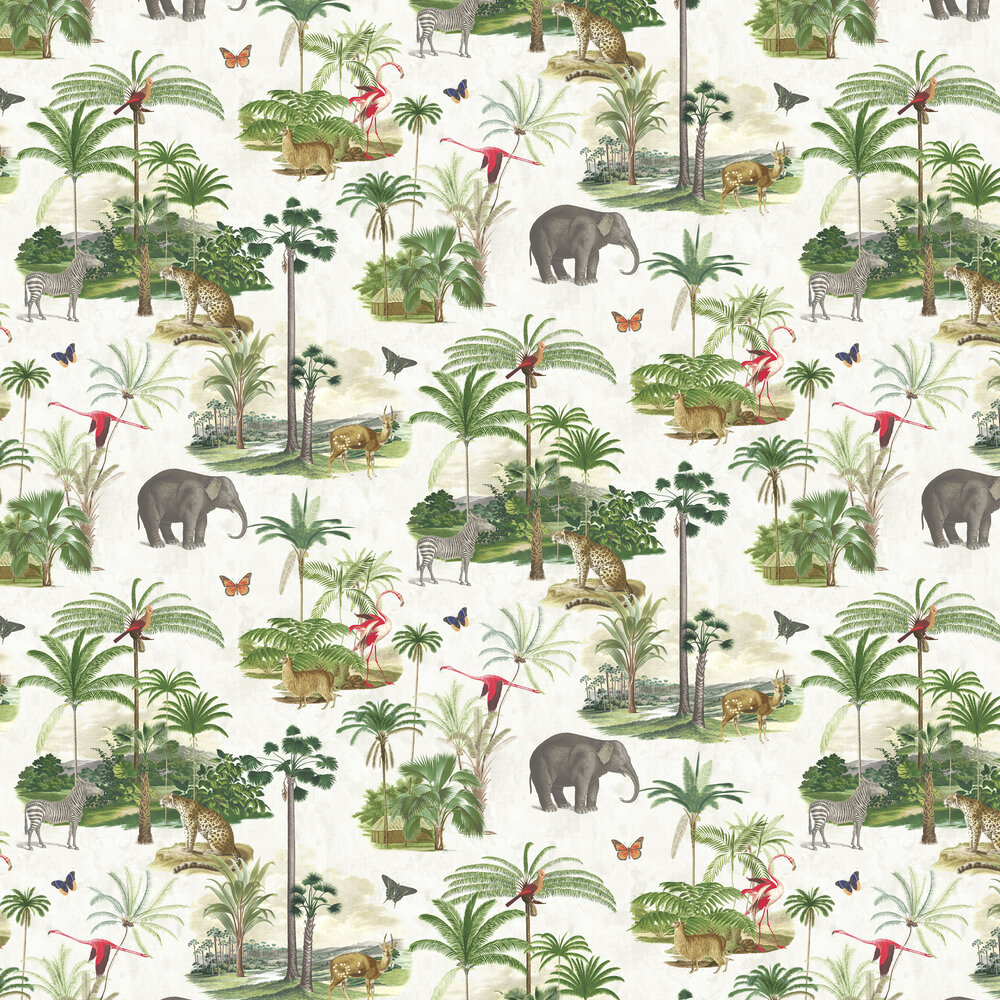 Tropique Zoo Wallpaper - Wild - by Graham & Brown