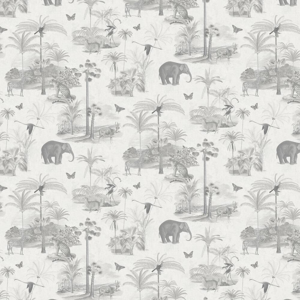 Tropique Zoo Wallpaper - Canvas - by Graham & Brown