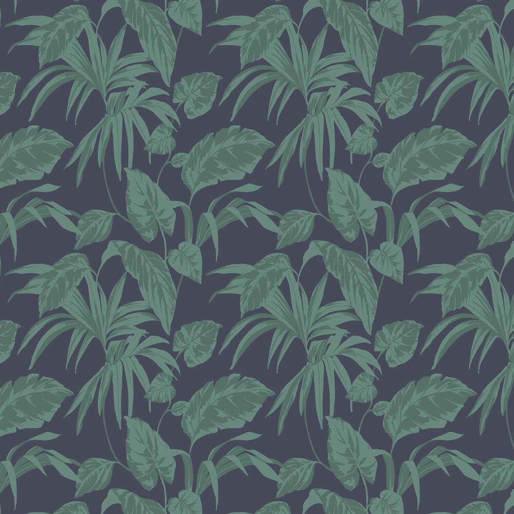 Palma Wallpaper - Midnight - by Graham & Brown