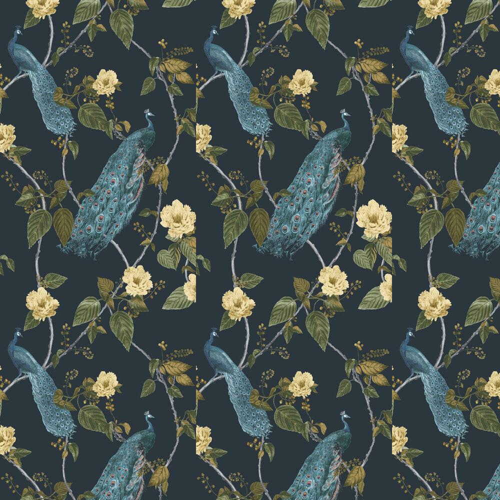 Resplendance Wallpaper - Navy - by Graham & Brown
