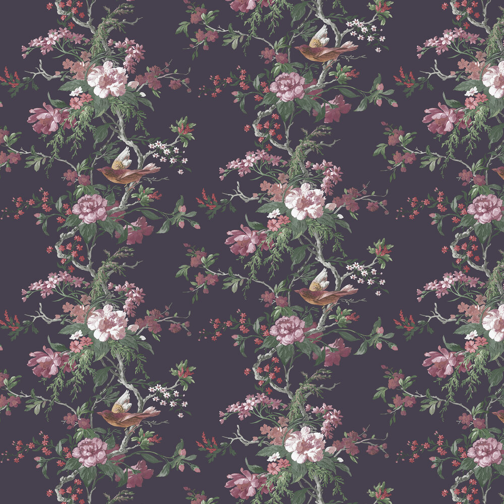 Graham & Brown Venetian Deep Plum Wallpaper - Product code: 107875