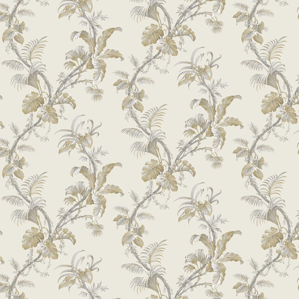 Alocasia Wallpaper - Ochre - by Albany
