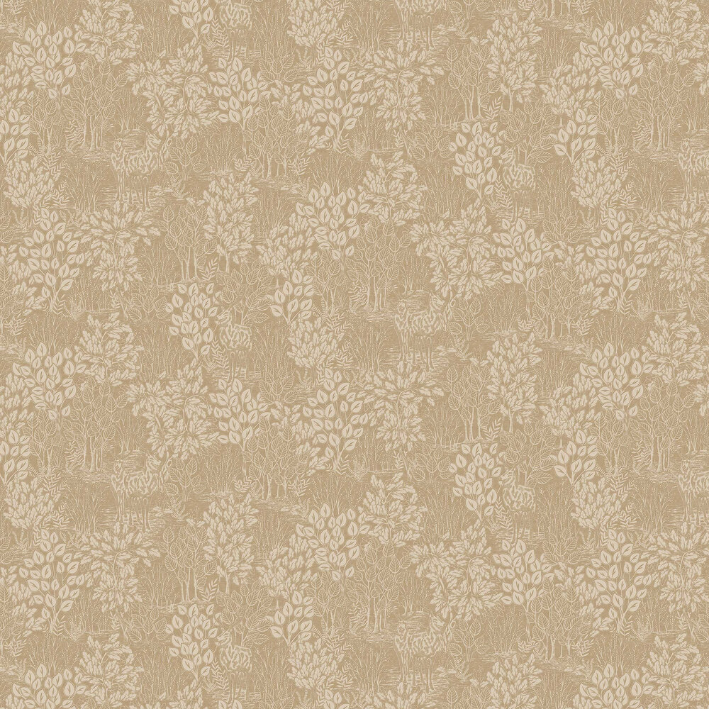 Majella Wallpaper - Gold - by Albany