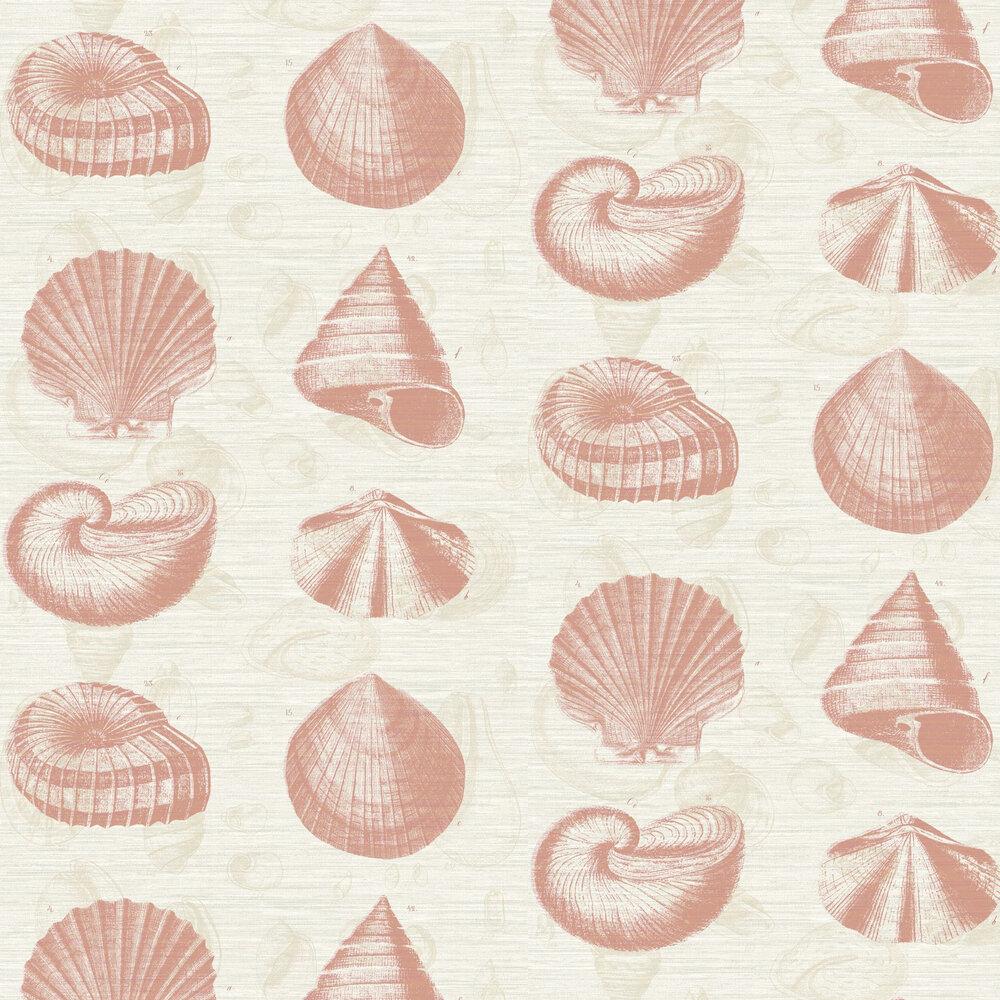 Martinique Wallpaper - Coral - by Elizabeth Ockford