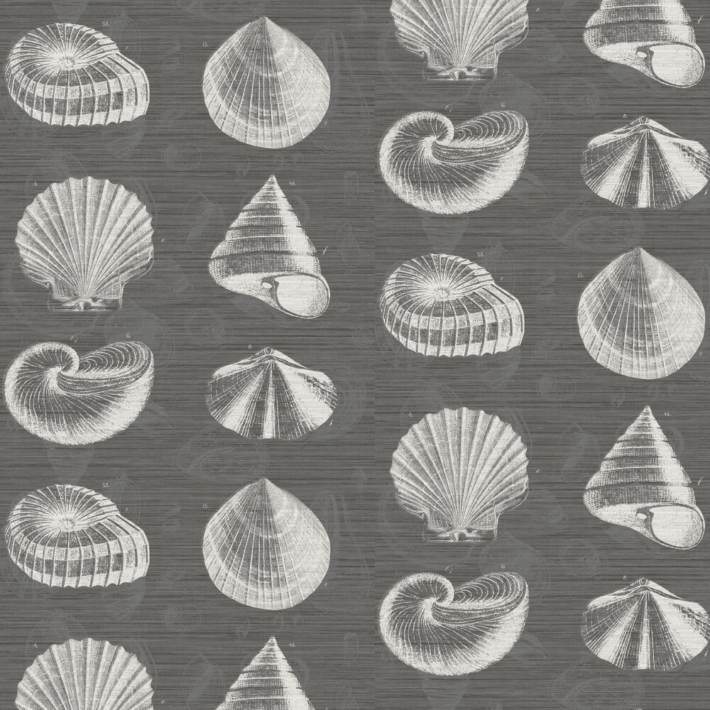 Martinique Wallpaper - Black - by Elizabeth Ockford