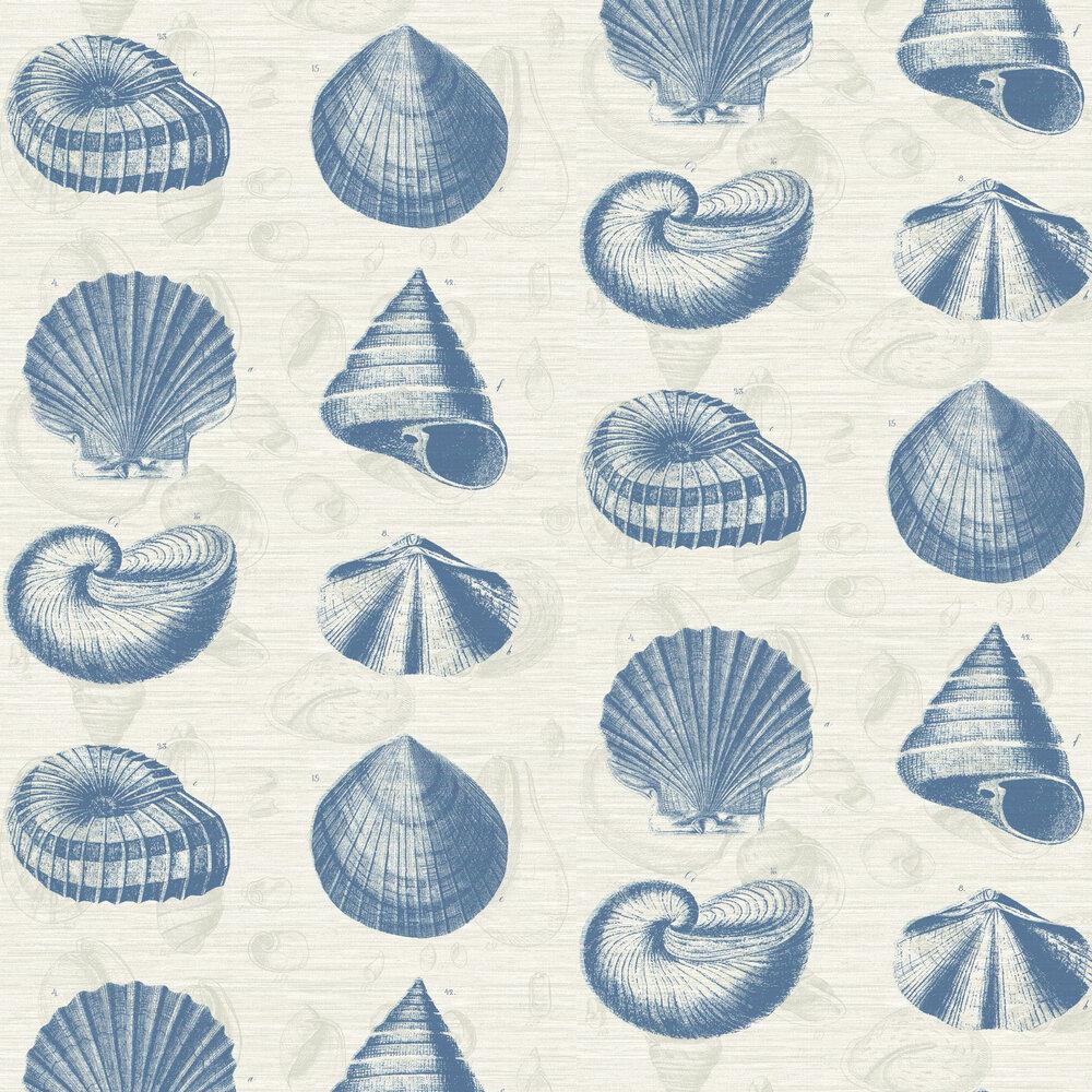 Martinique Wallpaper - Blue - by Elizabeth Ockford