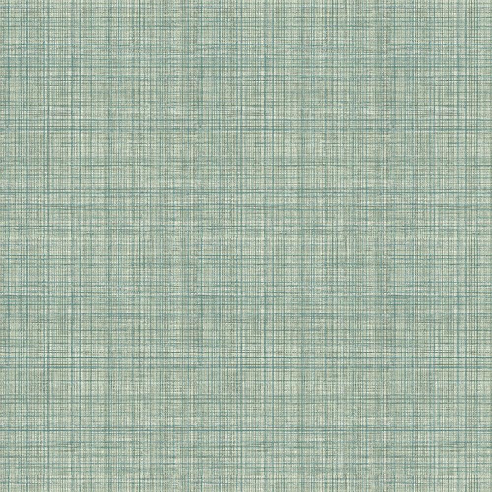 Lucia Wallpaper - Aqua - by Elizabeth Ockford