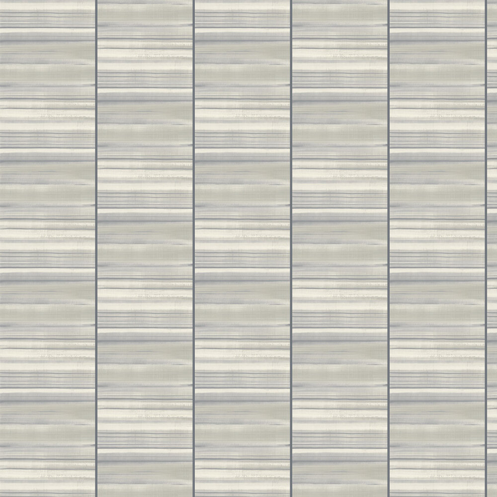 Nevis Wallpaper - White / Grey - by Elizabeth Ockford