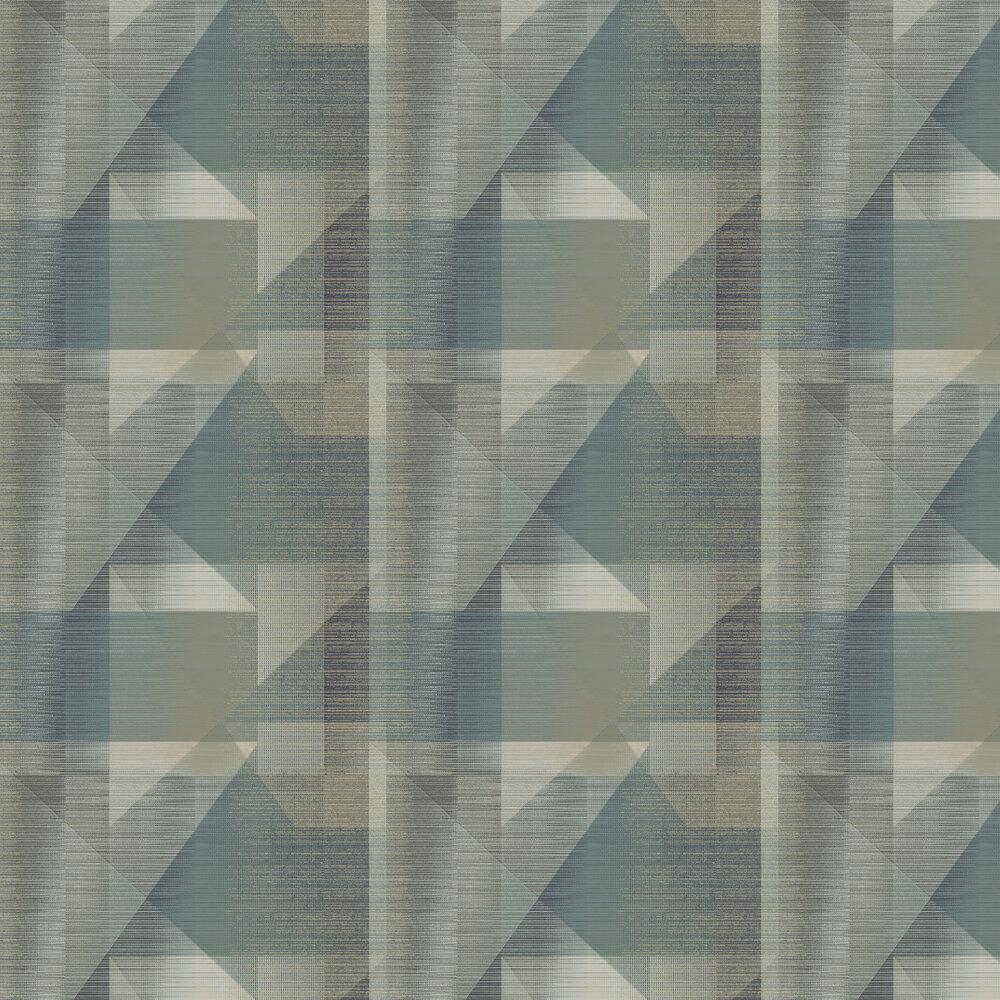 Butia Wallpaper - Blue / Emerald - by Elizabeth Ockford
