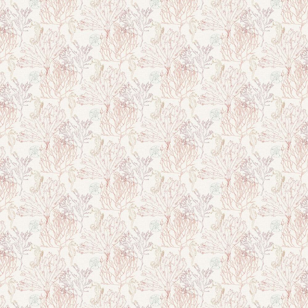Monsterrat Wallpaper - Coral Red - by Elizabeth Ockford