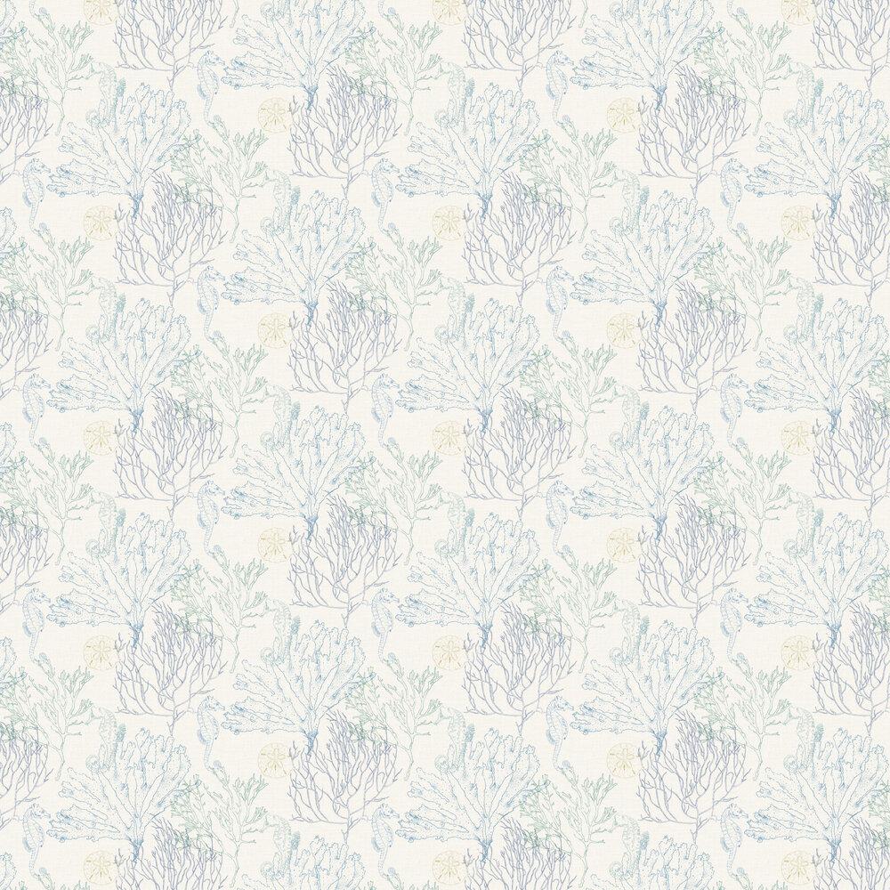Monsterrat Wallpaper - Blue - by Elizabeth Ockford