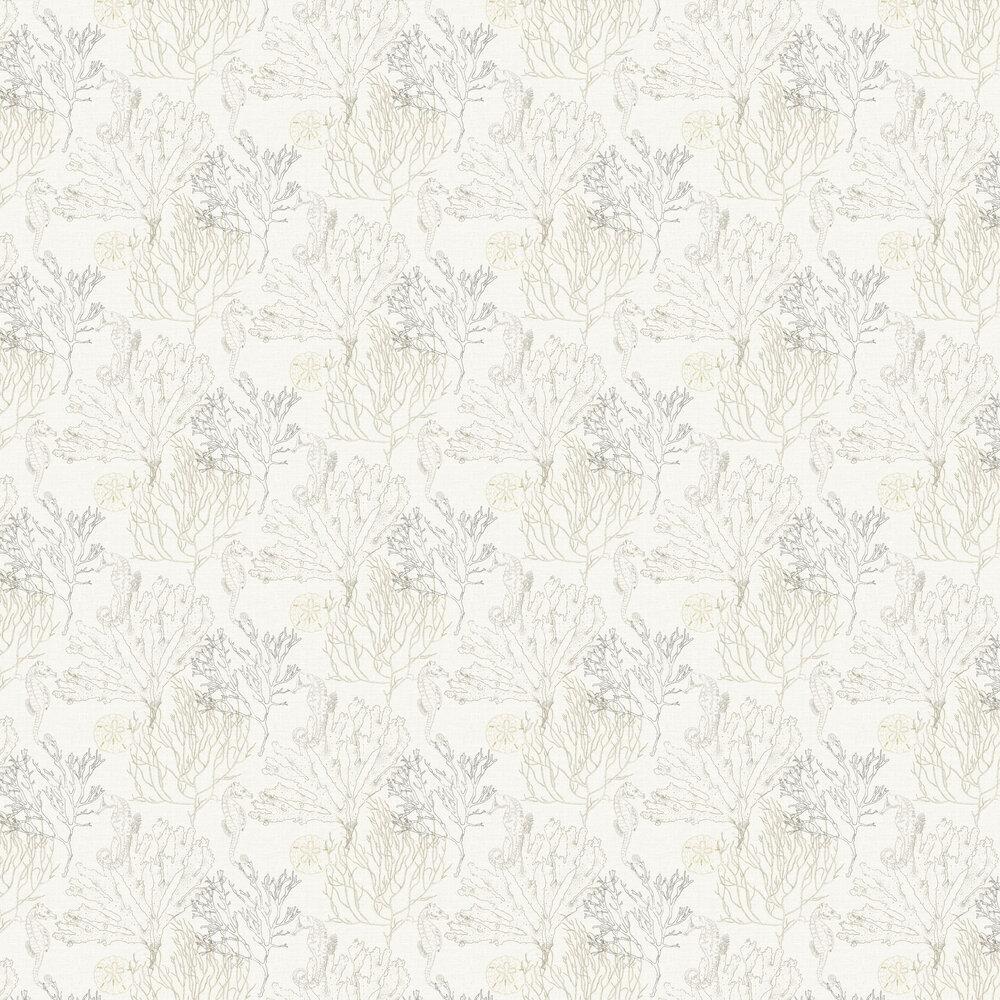 Monsterrat Wallpaper - Black / White - by Elizabeth Ockford