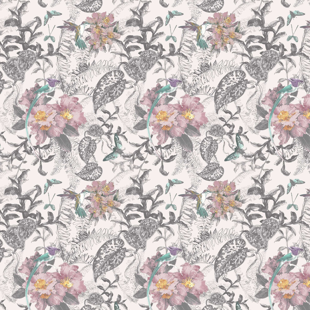 Hedgerow Wallpaper - Chamomile - by 1838 Wallcoverings