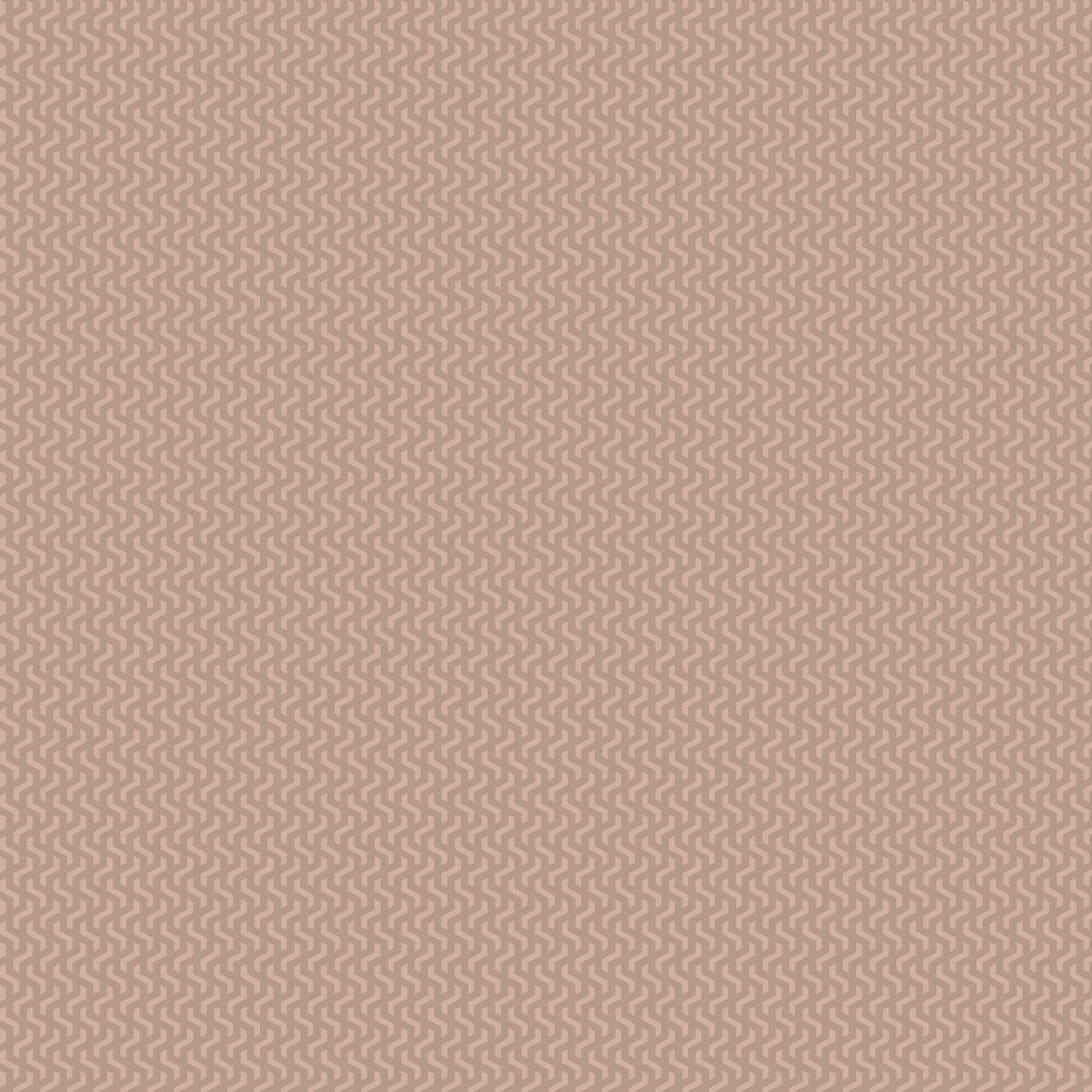 Rattan Wallpaper - Rose Gold Foil - by 1838 Wallcoverings