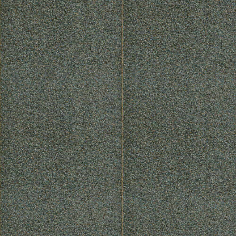 Brutalish Stripe Wallpaper - Charcoal / Brass - by Anthology