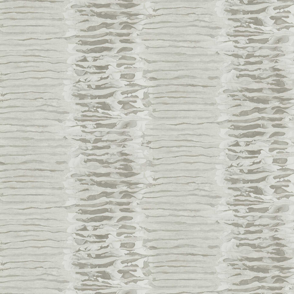 Ripple Stripe Wallpaper - Mist - by Anthology