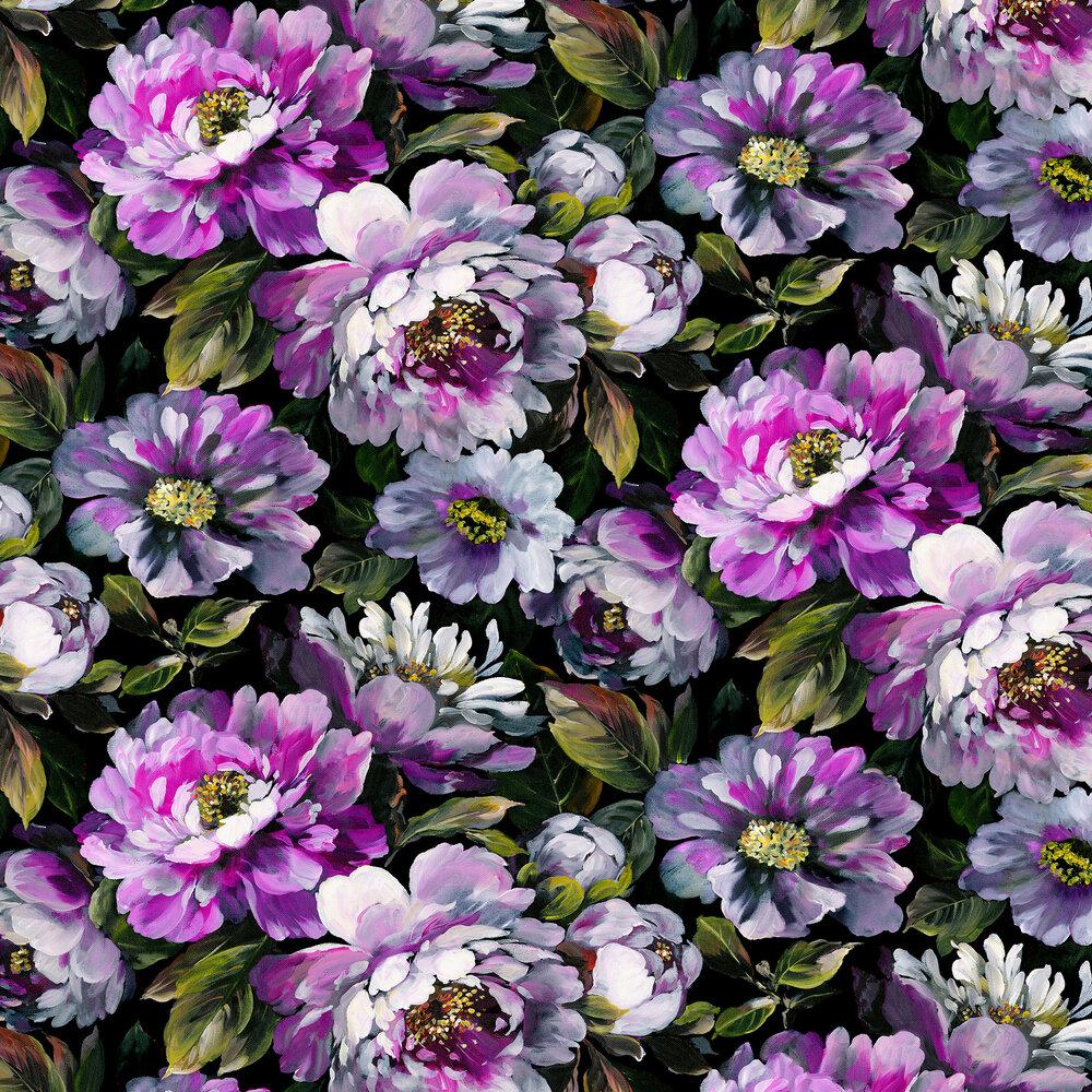 Secret Oasis Wallpaper - Ultra Violet - by Prestigious