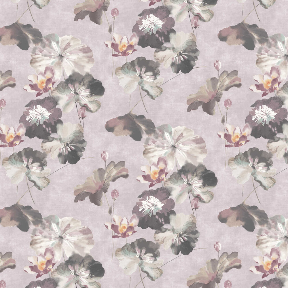 Water Lilies Wallpaper - Chamomile - by 1838 Wallcoverings