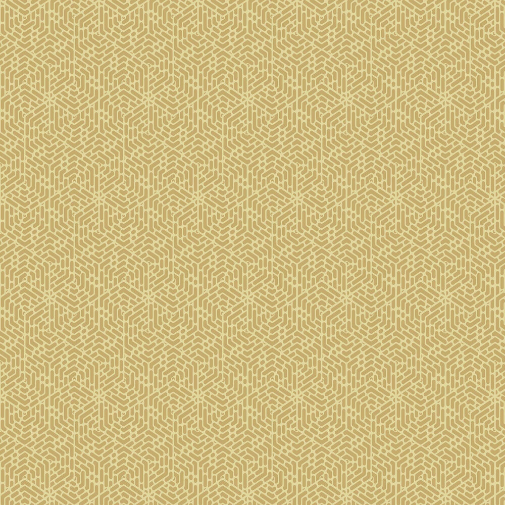 Willow Wallpaper - Honey - by 1838 Wallcoverings
