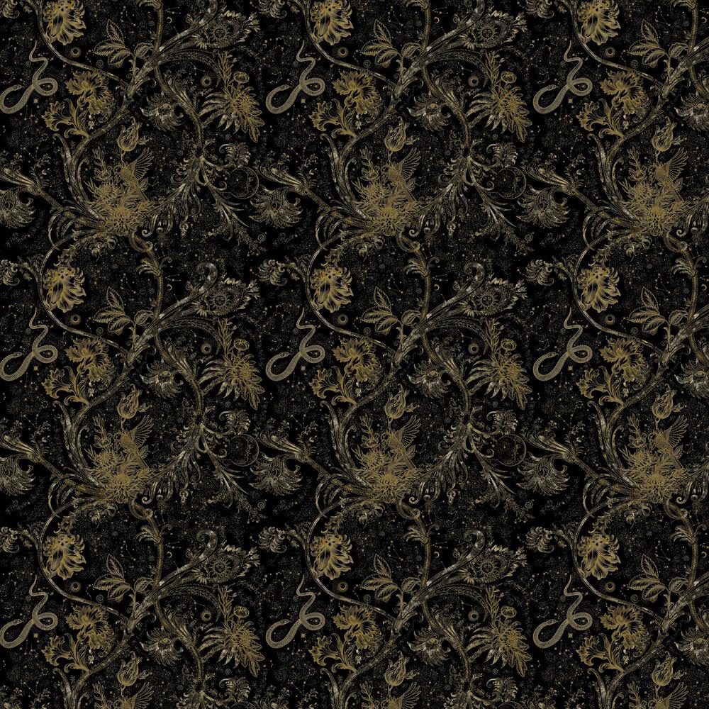Neo-Mithology Wallpaper - Black / Gold - by Coordonne