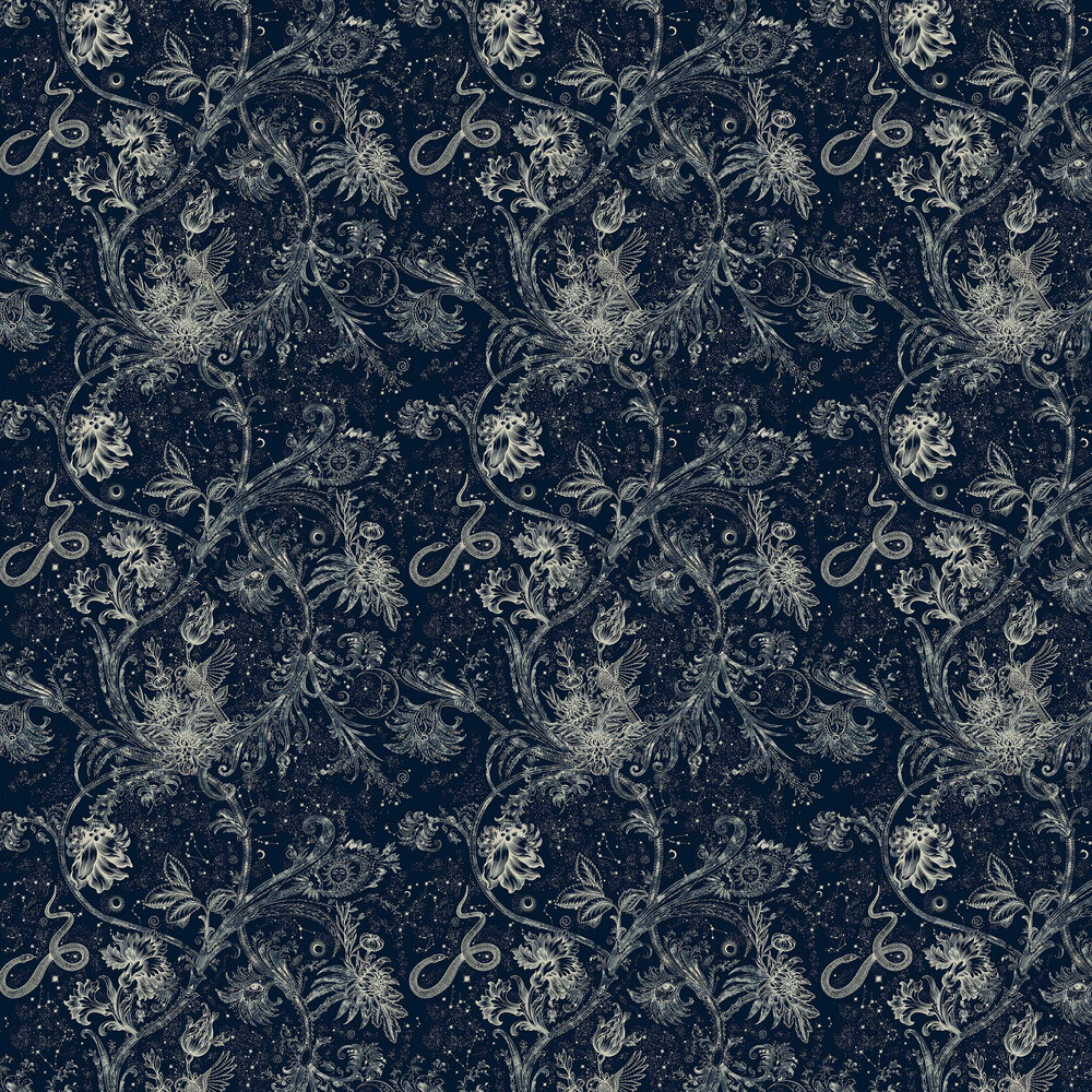 Neo-Mithology Wallpaper - Navy - by Coordonne