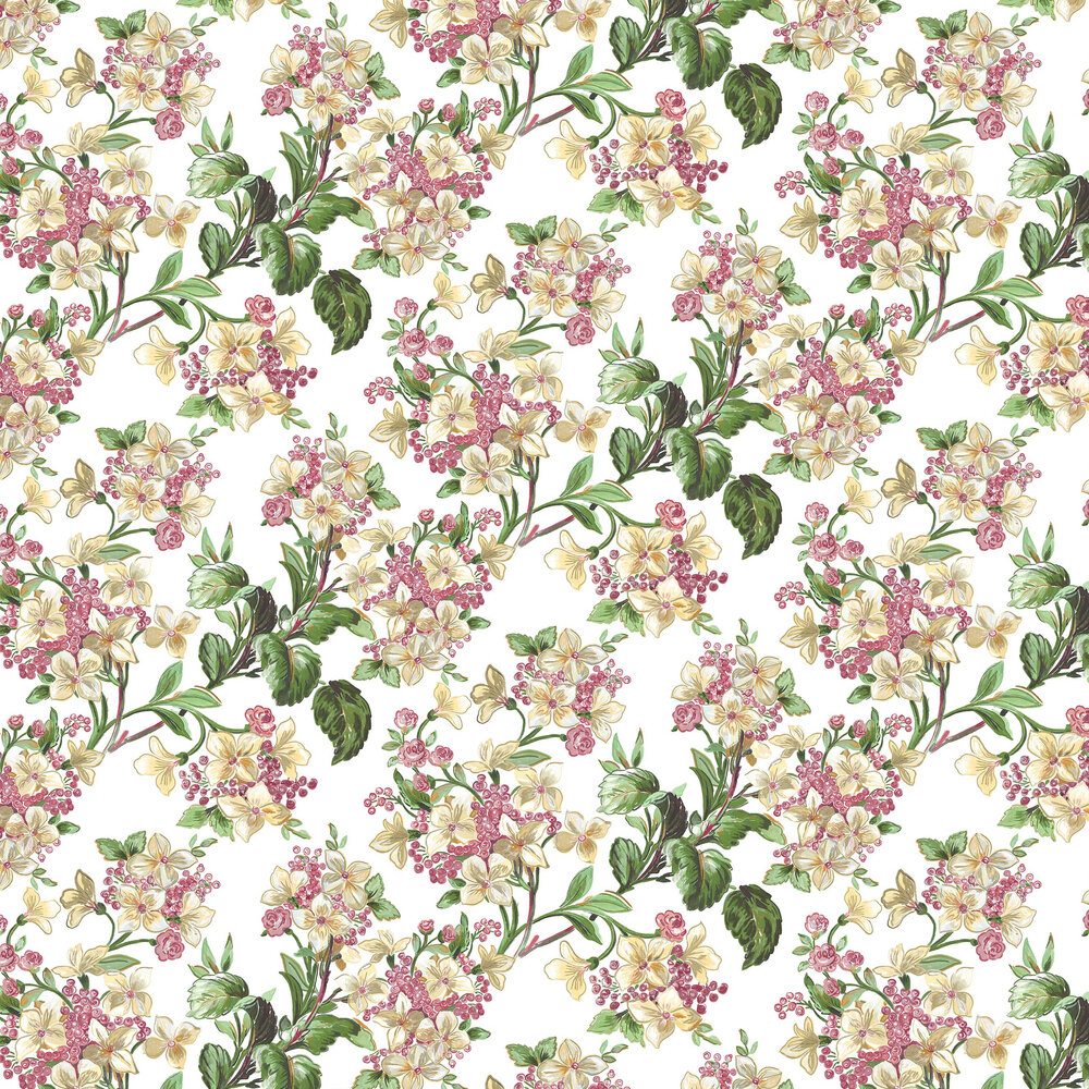 Flowery Wallpaper - Multi-coloured - by Coordonne