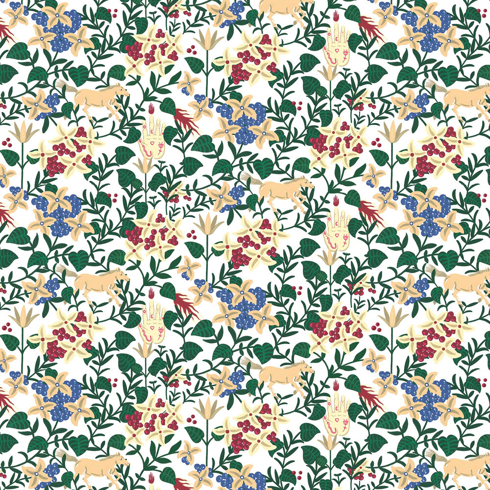 Neo-Flowery Wallpaper - White - by Coordonne