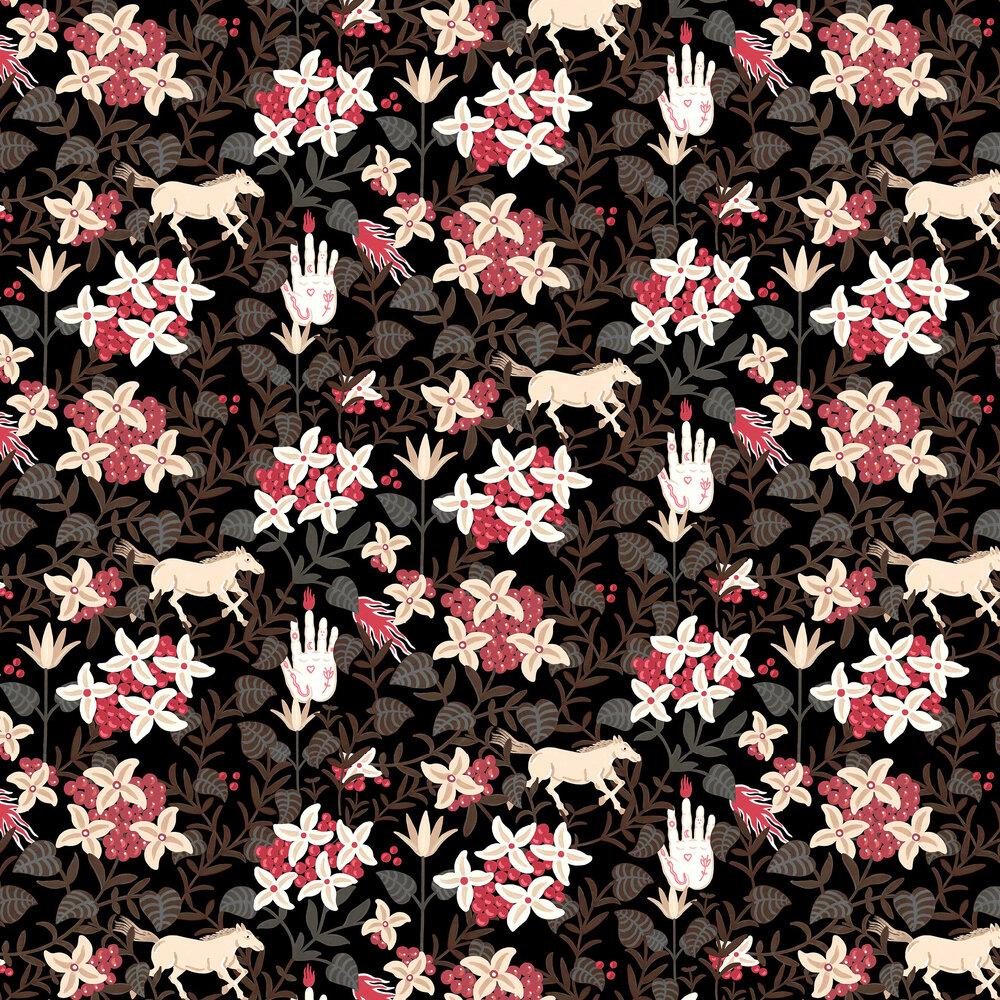 Neo-Flowery Wallpaper - Black - by Coordonne