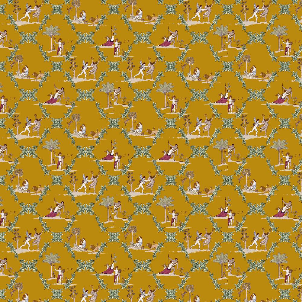 Neo-Bucolic Wallpaper - Mustard - by Coordonne