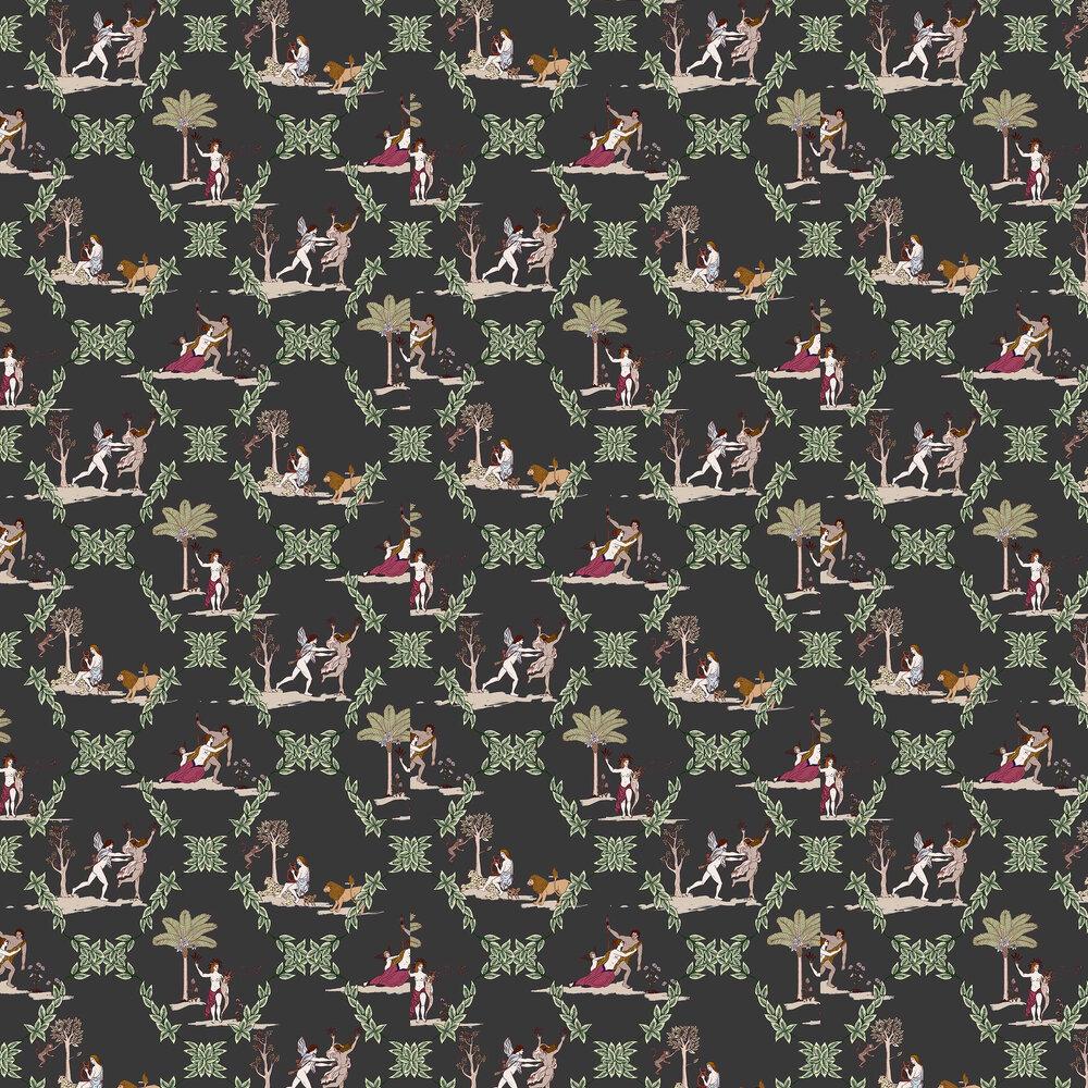 Neo-Bucolic Wallpaper - Black - by Coordonne