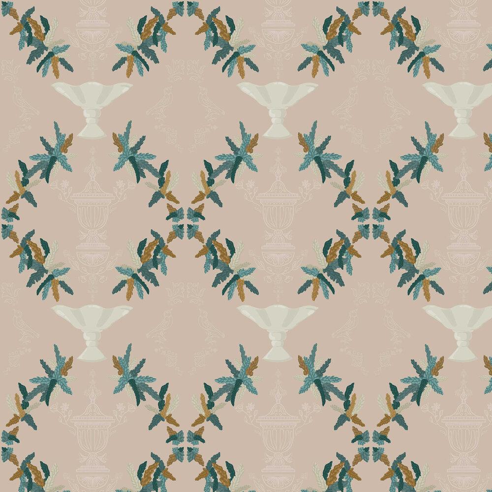 Neo-Rococo Wallpaper - Beige - by Coordonne