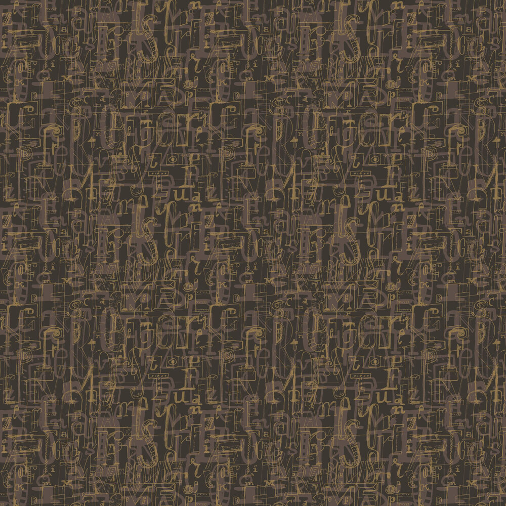 Tres Tintas 001 Lletres Brown Wallpaper - Product code: 1993-4